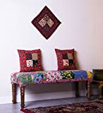 Theshopy Wooden Bench With Upholstery Fo...