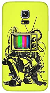 Timpax Protective Hard Back Case Cover With access to all controls and ports Printed Design : Whats on Television.Specifically Design For : Samsung Galaxy S5 mini ( SM 800G )
