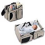 Zanza 3in 1-Wickeltasche, Mehrzweck-Tasche, für Reisen, für Stubenwagen, für Babys und Kleinkinder, für Windeln, als Tragebettchen und Wickeltisch, tragbar, veränderbar