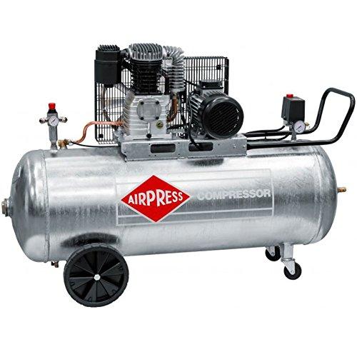 Airpress ölgeschmierter Druckluft-Kompressor GK 600-200 (3 kW, 10 bar,200l Kessel, 400 Volt) großer Kolben-Kompressor