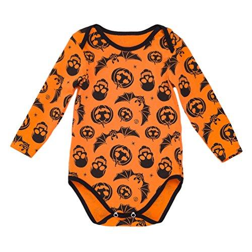 Anguang Gedruckt Halloween Kürbis Kostüm kinderkostüme Baby Mädchen -