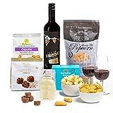 Rotwein und Leckereien zum Vatertag in der Hay Hampers Geschenkbox