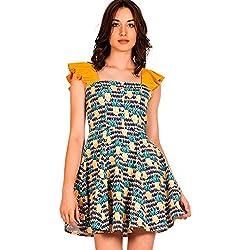 Minueto Vestido Estampado Pinas Mariana M, Multicolor