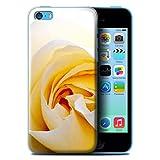 Custodia/Cover Rigide/Prottetiva STUFF4 stampata con il disegno Fiori del giardino floreale per Apple iPhone 5C - Rosa Bianca