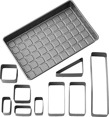 Wilton 2105-0801 Backform, Aluminium, Silber, 38 x 23 x 5 cm, 4 Einheiten