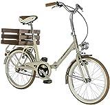 20' Zoll Alpina Aluminium Fahrrad Faltrad Klapprad Cityrad 'Camping' , Farbe:creme