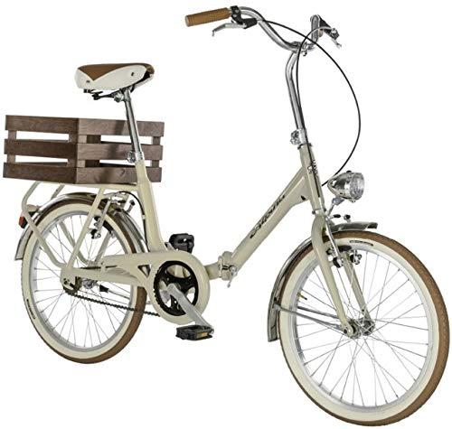 20\' Zoll Alpina Aluminium Fahrrad Faltrad Klapprad Cityrad \'Camping\' , Farbe:creme