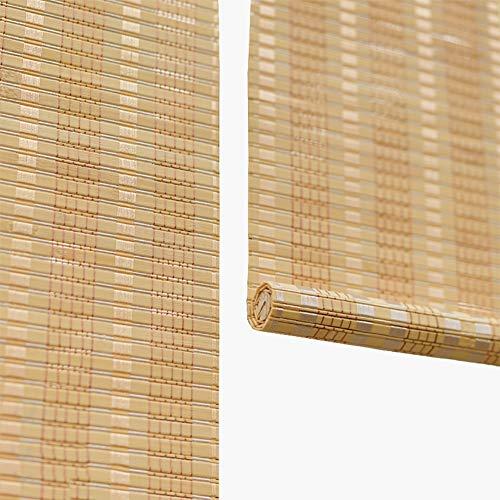 Bambusrollo- Hakentyp Rollo Jalousien mit Befestigungsmaterial, Bambus Rollos für Innenfenster/Teestube/Cut Off, 90% Blackout (größe : 70x120cm)