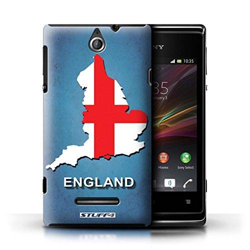 Kobalt® Imprimé Etui / Coque pour Sony Xperia E / Thaïlande/Thai conception / Série Drapeau Pays Angleterre/Anglais