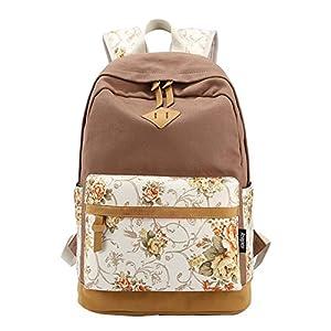 51A%2BC3GOvYL. SS300  - Moollyfox Las niñas Lona Mochila floral del Ordenador portátil bolso de escuela Mochilas para estudiantes Bolsa de viaje
