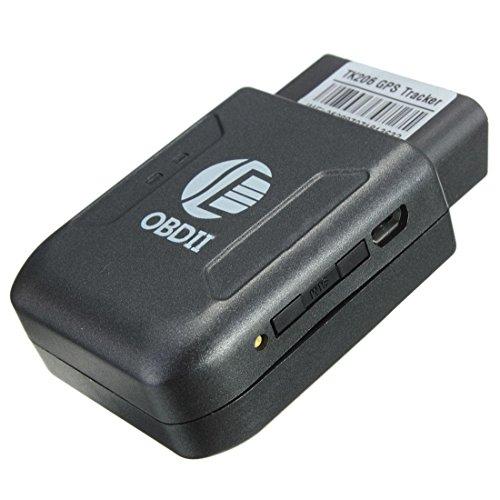 SODIAL (R) OBD II-Verfolger GPS Locator Taschen Satellite Anti-Diebstahl-Spy GSM GPRS-SIM Schwarz SOS (Spy Tasche)