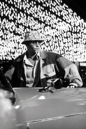 Moviestore Johnny Depp als Raoul Duke in Fear and Loathing in Las Vegas 91x60cm Schwarzweiß-Posterdruck