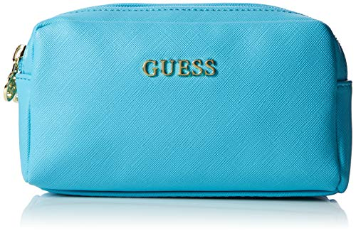Guess Damen Dolly Double Zip Organizertasche, Schwarz Sky, 17x10x7 cm Schuhe Dolly