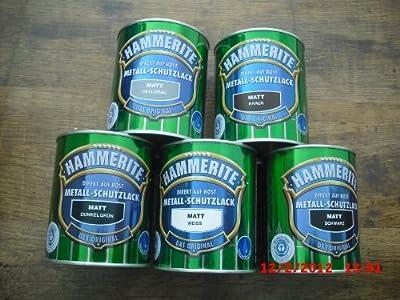 0,75 L Hammerite Metallschutzlack dunkelgrün matt von ICI Paints Deco GmbH - TapetenShop
