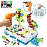 548ef4a81f86d5 3D Puzzle Schraube Spielzeug Baukasten Auseinander Nehmen Spielzeuge mit  Elektronischem Bohrer Baustein Kreatives Stem Spielzeug Geschenkidee
