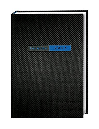 Preisvergleich Produktbild Terminer A6, Struktur schwarz - Kalender 2017