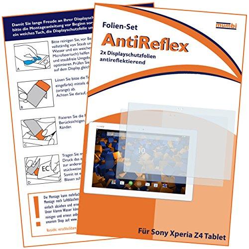 mumbi Schutzfolie kompatibel mit Sony Xperia Z4 Tablet Folie matt, Bildschirmschutzfolie (2x)