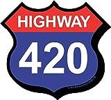 Aquarius Highway 420 Funky Chunky Magnet