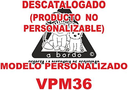 """Adhesivo personalizado Bebé a bordo VPC36. DISEÑADO, VENDIDO Y ENVIADO SOLO POR VPM ORIGINAL. NO COMPRAR AL VENDEDOR """"drc1rdrc1r"""", son copias ilegales."""