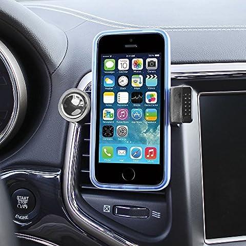 Color Dreams® Support voiture Auto universel, ventilation Support Voiture, support à Grille d'aération, Fixation à la grille aération, support auto pour smartphone téléphone portable Iphone 6S 6S plus 6 6 plus SE 5 5S 5C 4 4S , Samsung Galaxy S7 S6 S5 S4 Note 4 3 , Sony, BQ, Motorola, Google Nexus, LG G3 et beaucoup d'autres téléphones ou appareils GPS