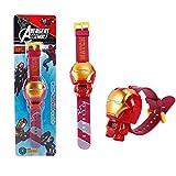Mire el Juguete de deformación de la muñeca de Avengers Iron Man Green Spider-Man Capitán América, Figuras de acción, Reloj para niños ( Color : 2 )