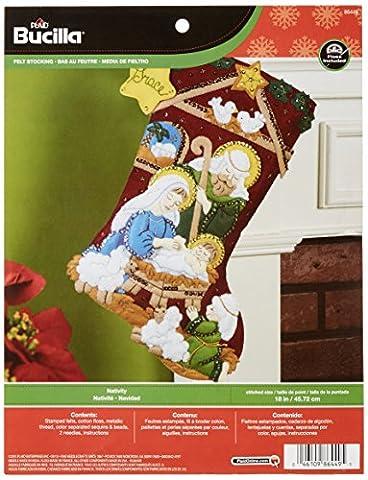 Bucilla Nativity Stocking Felt Applique