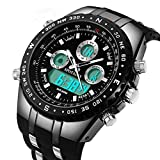 Best Men Watches - Mens Digital Sports Watch Military Big Face Waterproof Review
