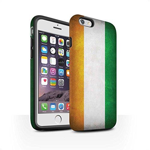 STUFF4 Matte Harten Stoßfest Hülle / Case für Apple iPhone 6 / Albanien/Albanisch Muster / Flagge Kollektion Elfenbeinküste