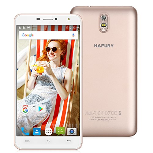 Cubot Hafury Umax Smartphone, 6.0 Pollici FHD IPS Display Android 7.0 3G Telefono Cellulare, Android 7.0 MTK6580 Quad-core 1.3GHz, 2GB RAM + 16GB ROM, 13.0 MP +5.0 MP Macchina fotografica, Dual Sim 4500mAh Batteria WiFi Hotkont GPS OTG Cellulare - Oro