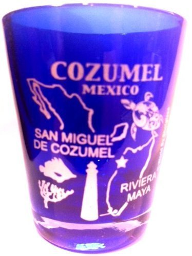 Cozumel Glas (Cozumel Mexiko Kobalt Blau Shot Glas von World by Shotglass)