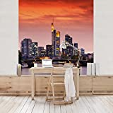 Vliestapete–Frankfurt Skyline–Wandbild quadratisch