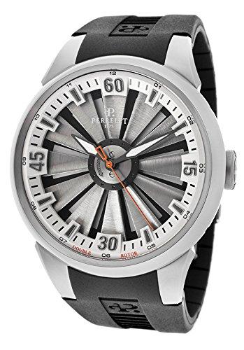 Perrelet Men' s 44mm Black rubber Band Steel case Automatic Watch...