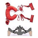 van-guard Fetish Bandage Restraint Kit con morbidi cuscini Manette Cinturini alla caviglia - Giochi di ruolo Bracciali Accessori per coppie