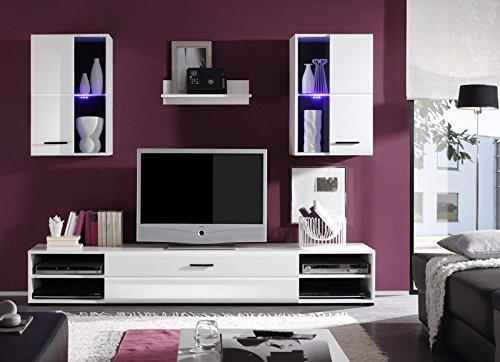 Avanti trendstore lea - parete da soggiorno - top prezzo + ottica - illuminazione led compresa