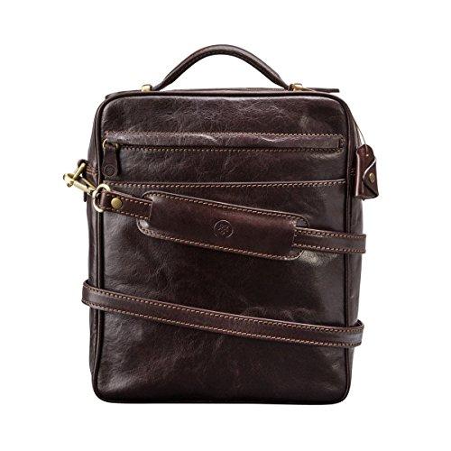 Maxwell Scott - Grand sac en bandoulière cuir italien marron clair (SantinoL) Marron Foncé