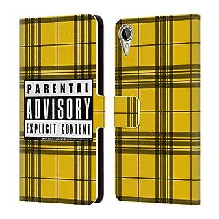 Head Case Designs Offizielle Parental Advisory Senf-Plaid Städtischer Straßenstil Brieftasche Handyhülle aus Leder für HTC Desire 10 Lifestyle