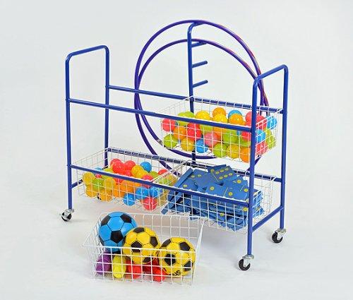 Four Basket Sports/PE Storage Trolley- A1472