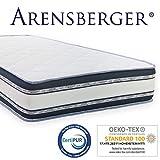 Arensberger ® Relaxx 9 Zonen Wellness Matratze mit 3D-Memory Foam, 160cm x 200cm, Höhe 25cm, Raumgewicht 50 kg/m³, drei Schichten: Kaltschaum + Visco Smart Schaum + Gel Schaum