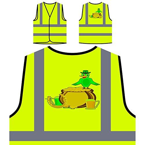 St-Patricks-Tag-Vogel Art Personalisierte High Visibility Gelbe Sicherheitsjacke Weste (St Tag Patricks Weste)