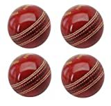 #9: Set Of 4 Tima Genuine Leather Cricket Ball 2 Part Standard International Size
