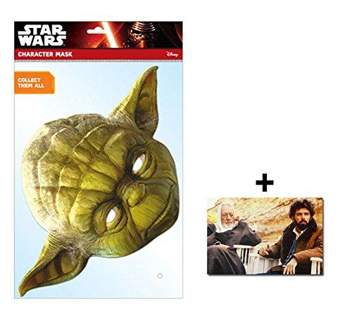Yoda Official Star Wars Single Karte Partei Gesichtsmasken (Maske) Enthält 6X4 (15X10Cm) starfoto