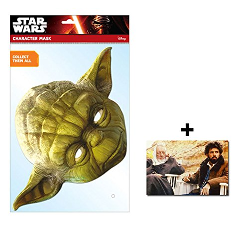 Hollywood Kinder Kostüme (Yoda Official Star Wars Single Karte Partei Gesichtsmasken (Maske) Enthält 6X4 (15X10Cm))
