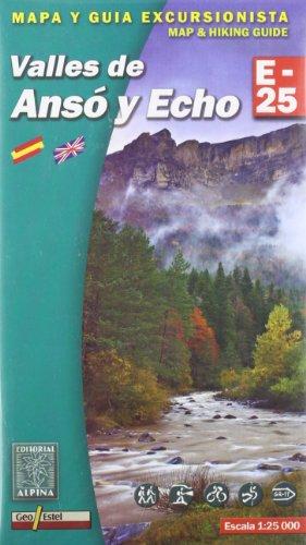 Valles de Anso y Echo, mapa excursionista. Escala 1:25.000. Alpina Editorial. por VV.AA.