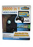 Anuj Store 98000 in 1 Video Game Pad Built withTV Direct AV Inputs Shooting, Puzzle, Racing and Action (Black)