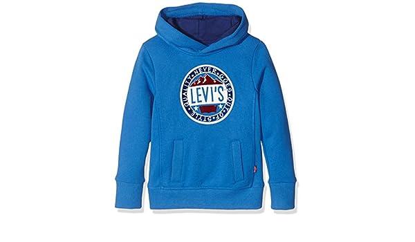c91230c5752b Levi s Kids Jungen Kapuzenpullover Sweat ARVEY, Blau (Strong Blue 45), 128  (Herstellergröße  8A)  Amazon.de  Bekleidung