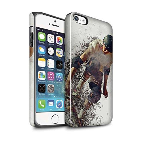 STUFF4 Glanz Harten Stoßfest Hülle / Case für Apple iPhone 6S+/Plus / Motorrad-Skizze Muster / Fragmenten Kollektion Skateboard-Skizze