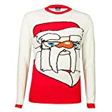 White & Red Father Christmas Unisex Jumper