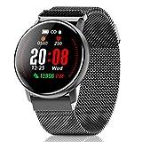 CanMixs Smartwatch, CM12 Orologio Fitness Activity Tracker IP67 Impermeabile Sport Watch attività intelligente Bracciale con Cardiofrequenzimetro Chiamata SMS Push per donna Uomini Android e iOS