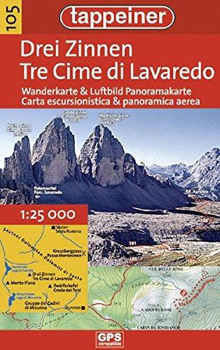 Wanderkarte Drei Zinnen 1 : 25.000: Cartina escursionistica Tre Cime di Lavaredo