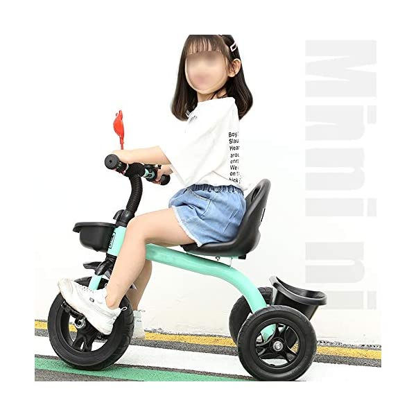 LRHD Children's Tricycle, Children's Tricycle, Stroller, Tricycle, Tricycle Pedal Bicycle, Boys and Girls Aged 2-3-4-5 Years Old, Indoor and Outdoor, with Storage Boxes, Boys and Girls Riding Toys LRHD 1. [Perfect Growth Partner]: Tricycle is suitable for children aged 2-6. Let this tricycle grow up with your children. 2. [Adjustable Seat]: The tricycle seat can be adjusted in front and rear gears, so the baby does not need to change cars when growing up, and it is suitable for children of different height stages. 3. [Humanized Design] These cleverly designed tricycles and tricycles have many features your children will like! With one basket at the front and one basket at the back, your children can take their favorite toys along the way! 6